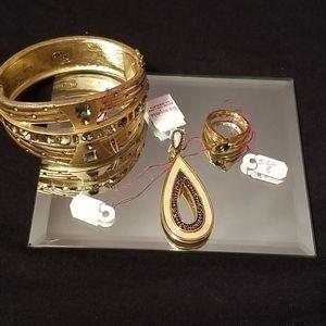 Bracelet Slider and Ring set $80